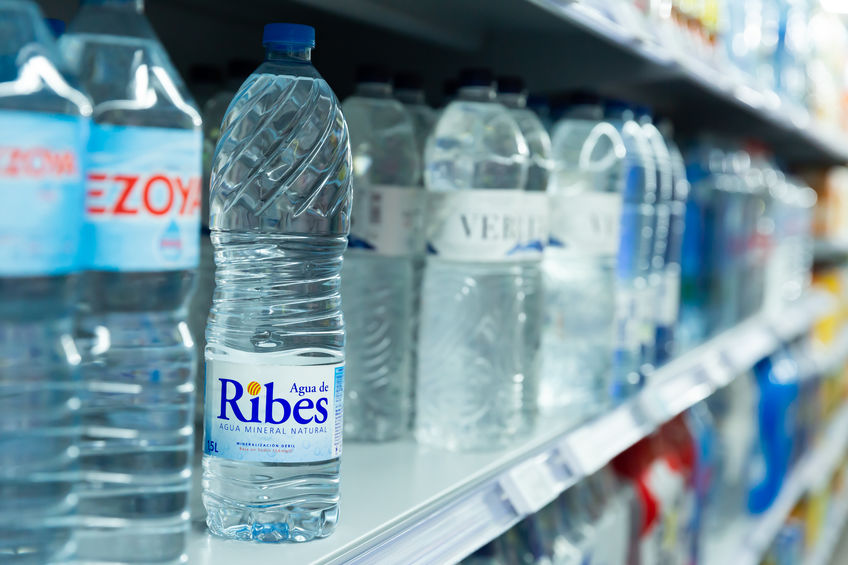 Bottles of Water Spanish Supermarket