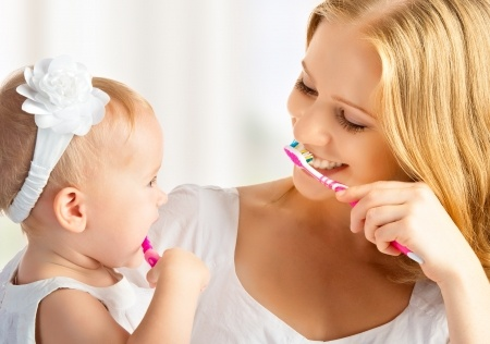 child-brushing